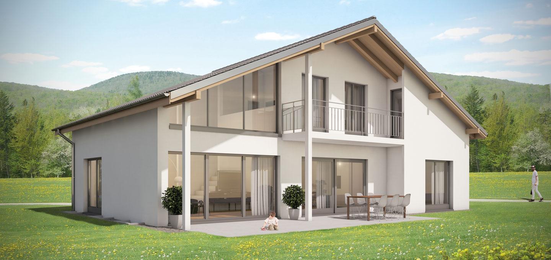 traumhaus 211 einfamilienhaus bauen kosten grundrisse hausidee architekturbuero. Black Bedroom Furniture Sets. Home Design Ideas