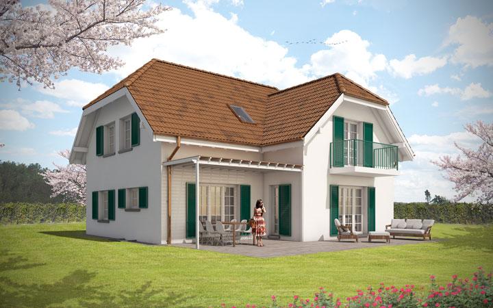 Landhaus bauen | modernes Landhaus | Einfamilienhaus Landhausstil ...